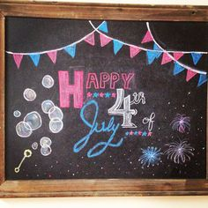 4th of July chalkboard art