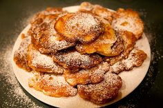"""Chef Toma used to make these! """"Apple Pancakes"""" - Racuchy z jablkami - Ania's Polish recipe Polish Desserts, Polish Recipes, Apple Desserts, Churros, Croatian Cuisine, My Favorite Food, Favorite Recipes, Crepes And Waffles, Fruit Pancakes"""