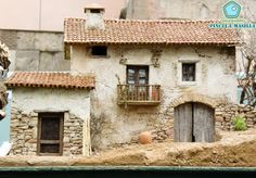Pincel y Masilla: [Belenes] Época de belenes. Clay Houses, Ceramic Houses, Miniature Houses, Pottery Houses, Christmas Nativity Scene, Free To Use Images, Fairy Houses, Small World, Little Houses
