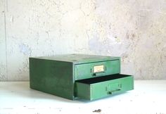 Vintage Industrial Metal Organizer Small by TheArtifactoryStudio, $55.00