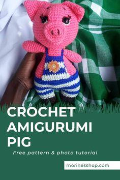 Anguro- Free Crochet Pig Amigurumi Pattern - Morine's Shop