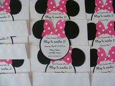 super easy Minnie mouse birthday invatations
