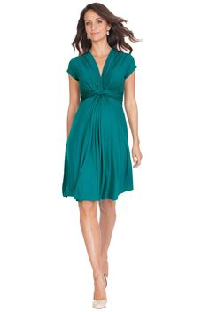 Seraphine Jolene Knot Front Maternity And Nursing Dress - Short Sleeve  Maternity Clothes BEST selection of Maternity clothes anywhere! FREE Gift with purchase! see www.duematernity.com for details