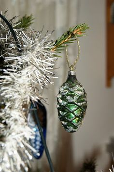 Vintage pine cones from my Christmas tree 2012.