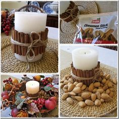 Cinnamon Stick Candle DIY tutorial for Autumn and Xmas
