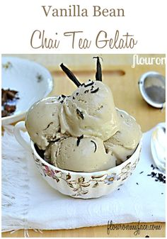 Vanilla Bean Chai Tea Gelato is a combination of my favorite flavors all wrapped up into a creamy gelato. It is the perfect chai tea lovers dessert recipe.