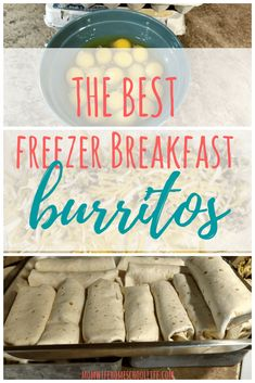 The Best Freezer Breakfast Burritos How they came about: I tried my hand in making freezer meals about a year or so ago. My favorite thing that I made: breakfast burritos. They we're a huge hit for Best Freezer Meals, Crock Pot Freezer, Freezer Cooking, Easy Meals, Cooking Recipes, Freezer Recipes, Batch Cooking, Family Recipes, Monthly Meal Planning