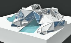 Want to know more about Origami Folding Architecture, Concept Models Architecture, Museum Architecture, Architecture Design, Triangular Architecture, Water Architecture, London Architecture, Pavillion Design, Origami Tattoo