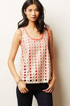 Sequined Sforza Tank #anthropologie