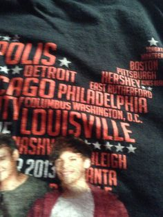 One Direction concert shirt! Sneaky people