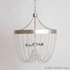 Julie Neill Designs - New Orleans handcrafted chandeliers, wall sconces, custom lighting, hand-painted tables, hand-painted vanities Handmade Chandelier, Silver Chandelier, Transitional Chandeliers, Lighting Companies, Home Accents, Master Bath, New Orleans, Lanterns, Sconces