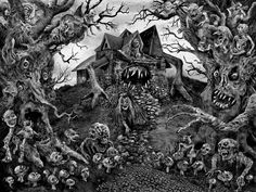 Painting of Scary Nightmare Art | ... interview with Aeron Alfrey and more of his art after the jump below
