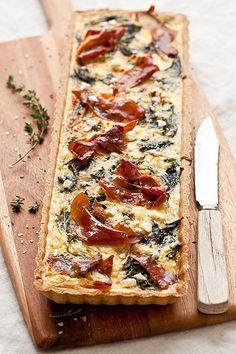 Tartelette: Swiss Chard, Goat Cheese and Prosciutto Tart