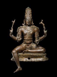 Sukhasana Shiva 11th century Chola Dynasty, Tamil Nadu, India Copper alloy