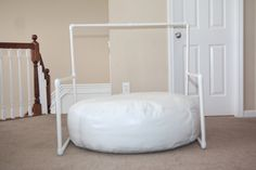 Newborn Photography Backdrop Stand - Works with any size beanbag - Lightweight & great for on-locaton newborn photography or studio set-ups. $60.00, via Etsy.