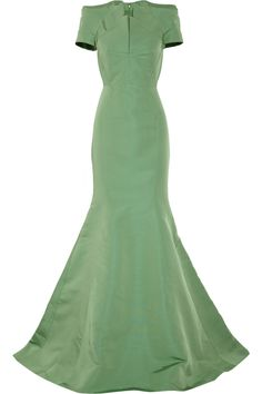 ZAC POSEN  Silk-faille gown - Very Old Hollywood - love the color!