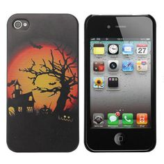 Halloween Sunset Pattern Plastic Hard Back Case Cover For iPhone 4 4S