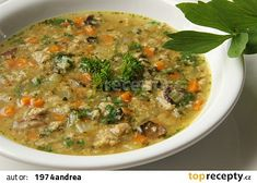 Chuďasova chlebová polévka recept - TopRecepty.cz Cheeseburger Chowder, Soup Recipes, Food And Drink, Soups, Soup, Soap Recipes