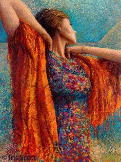 Iris Scott | Painting with fingers / hands | TuttArt@ | Pittura * Scultura * Poesia * Musica |