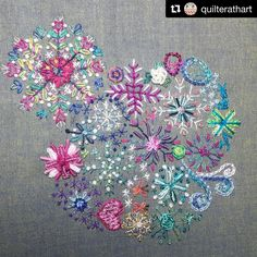 @quilterathart #needlework #handembroidery #broderie #embroidery #ricamo #bordado