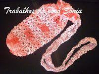 Trabalhos da vovó Sônia: Porta-garrafinha de água - 3 modelos - crochê