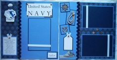 US NAVY military 12x12 Premade Scrapbook Pages by JourneysOfJoy