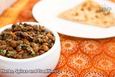 Herbs, Spices and Tradition: DRY BLACK CHICKPEAS SIDE DISH AND A POST ON GARAM MASALA