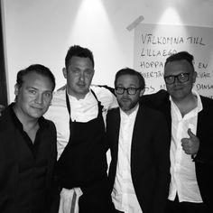 Jocke Berg and Kent with Tom Sjöstedt in Lilla Ego restaurant