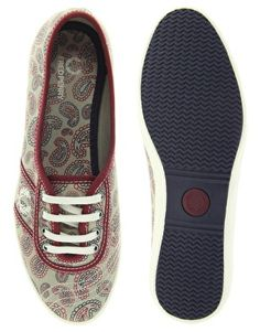 Fred Perry Aubrey Classic Paisley Print Trainers 481 kr.