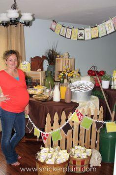 Chic Farm Boy & Girl Baby Shower   Snickerplum's Party Blog   Snickerplum
