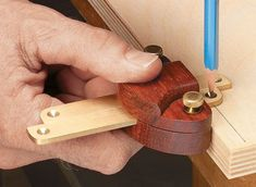 Exotic wood and polished brass come together in a pair of handy layout tools. #woodworkingtools
