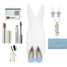 """Blue & White"" by fashiondelightoffical on Polyvore #IceCarats http://www.icecarats.com/Sterling-Silver-Blue-Lace-AgateOpaliteAmazoniteCultured-Pearl-Earrings-279274.aspx"