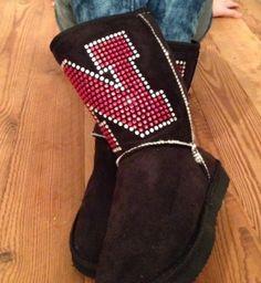 University of Nebraska Crystal Boots by littleFanGarb on Etsy, $29.99