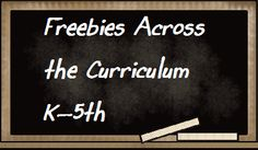 A pinning board full of fabulous freebies across the curriculum for grades K-5th grades.