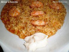 Arroz a banda con alioli Rice Recipes, Mexican Food Recipes, Cooking Recipes, Alice Delice, Tandoori Masala, Best Seafood Recipes, Spanish Dishes, Bread Machine Recipes, Small Meals