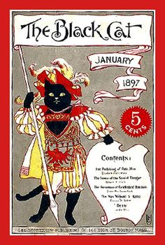 """The Black Cat"" magazine cover - January 1897"