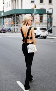 Street style | Glamorous open back street outfit