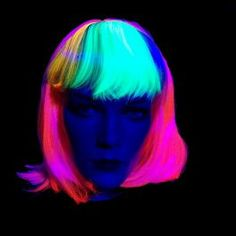 Neon Perücke Bunt