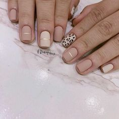 cheetah accent nails with neutral acrylic How to utilize nail polish? Nail polish in your friend's nails looks perfect, however you can't apply nail polish Cheetah Nails, Nude Nails, White Nails, Pink Nails, My Nails, Fall Nails, Acrylic Nails, Leopard Nail Art, Nail Black