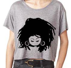 Handscreened Original Sassy Dredlock Boxy T-shirt  (S,M,L,XL,1X,2X,). $25.00, via Etsy.