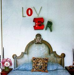 bedroom letter art