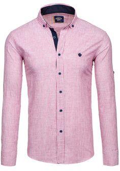 Pánská košile GAREZZA CITY 02 červená ČERVENÁ   Pánská móda \ Pánské košile \ Košile dlouhý rukáv Pánská móda \ Pánské košile \ proužkované   Bolf - Internetový Obchod s Oblečením   Oděv   Oblečení   Kabáty   Bundy