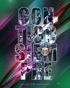 @Selección Mexicana #ContigoSiempre #LigraficaMX #DiseñoYFútbol #Wallpaper #LaSelecciónNacionalNosInspira