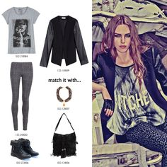 The u don' t wanna miss! Mix Match, Polyvore Outfits, Teen Fashion, Biker, Ootd, Sleeves, Leather, Jackets, Black