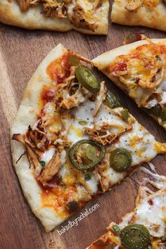 Easy and flavorful loaded taco pizza... two ways! Recipes at bakedbyrachel.com