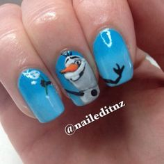 Frozen nails | See more at http://www.nailsss.com/... | See more nail designs at http://www.nailsss.com/nail-styles-2014/