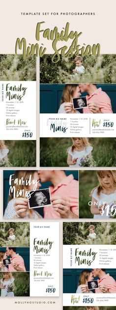 Are you a photographer who sells mini sessions? If so, use this mini session bundle template to remind your clients! This family mini template bundle is Photography Studio Setup, Photography Mini Sessions, Photography Pricing, Photography Marketing, Photography Camera, Photography Business, Children Photography, Family Photography, Amazing Photography