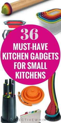Small kitchen doesn't have to mean bare minimum kitchen tools! Space saving kitchen products, kitchen gadgets, kitchen gift guide, collapsible kitchen products, nesting bowls, storage options, kitchen storage, small spaces, tiny house kitchen, kitchen equ