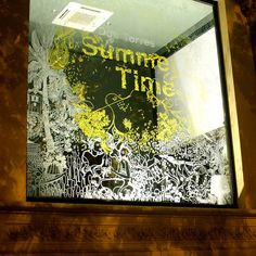 """""""Summer Time"""" Window Painting, and a lovely video here http://vimeo.com/28653936"""