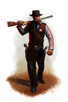 Negro Marshal - rifle on shoulder.jpg (461×689)